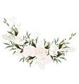 botanical spring wedding invitation card design vector image vector image