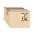 Box with shipping marks vector image vector image