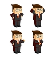 businessman character emotions vector image vector image