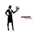 businesswoman woman in business suit vector image vector image