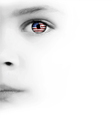 Childs Face Eye And American Flag vector image vector image