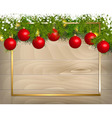 Christmas decoration Background Template vector image vector image