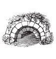cloaca is a sewer or a drain vintage engraving vector image