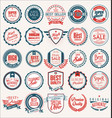 collection flat shields badges and labels vector image