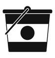 construction bucket icon simple style vector image vector image