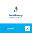 creative plant logo design flat color logo place vector image