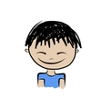 Cute boy smiling sketch for your design vector image vector image