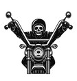 dead man on the motorcycle motorbike racer design vector image vector image