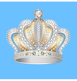 decorative crown of gold silver vector image vector image