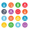 download button icon set vector image vector image