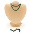 dummy with beads vector image vector image