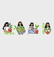 ecologic labels eco safe emblems green safe vector image vector image