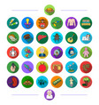 education textiles music and other web icon in vector image vector image