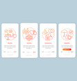 ethical principles onboarding mobile app page vector image vector image