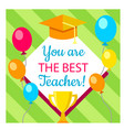 gift cards poster banner for back to school vector image