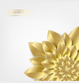 golden leaves in form of flower isolated over vector image