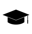 Graduation hat icon vector image