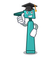 graduation otoscope character cartoon style vector image