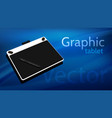 graphic tablet on beautiful background vector image