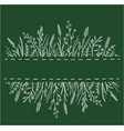 green background with wild herbs vector image