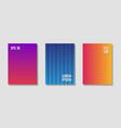 halftone flat patterns abstract set vector image vector image