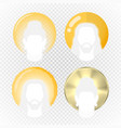 halo or aura in various modern styles vector image vector image