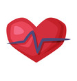 heartbeat heart beat pulse healthy lifestyle vector image