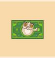 howlet sticker emoticon money profit dollar vector image