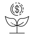 increase money plant icon outline style vector image
