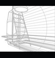 industrial tank wire-frame eps10 format vector image vector image