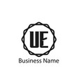 initial letter ue logo template design vector image