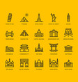 International landmarks and monuments icons