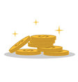 isolated cartoon shine gold coin vector image vector image