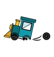 Isolated toy train damaged design vector image vector image