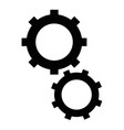 isolated two gears vector image