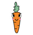 kawaii cute happy carrot vegetable vector image vector image