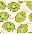 kiwi fruit seamless background vector image vector image