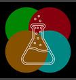 lab icon flask - science symbol vector image