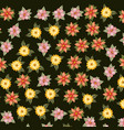 leafs and flowers pattern background vector image