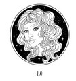 leo astrological sign as a vector image vector image