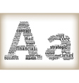 letter a filled by business words vector image