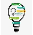 Light bulb infographic concept line style vector image