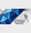 low poly banner design vector image