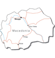 Macedonia Black White Map vector image vector image