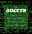 modern design background soccer sign icon vector image