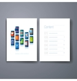 modern mobile apps flat icon cards design template vector image vector image