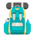mountain hiking backpack icon vector image vector image