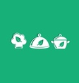 Organic cooking icons vector image vector image