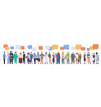 people group with chat bubble different occupation vector image vector image