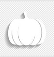 pumpkin sign white icon with soft shadow vector image